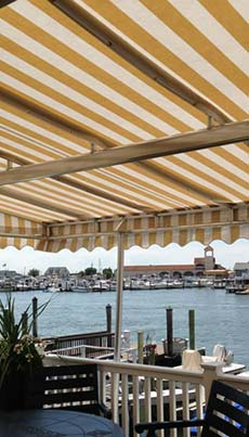 contact us - Custom awning for Cape May County restaurant