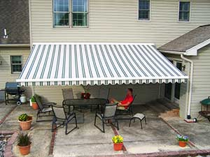 product portfolio - picture of retractable awning on a patio